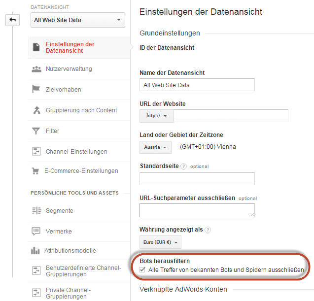 Teaser Spam in GA Filtern